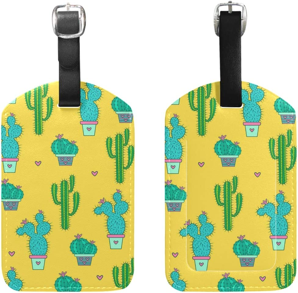 Cactus Cacti Handbag Tag For Travel Tags Accessories 2 Pack Luggage Tags