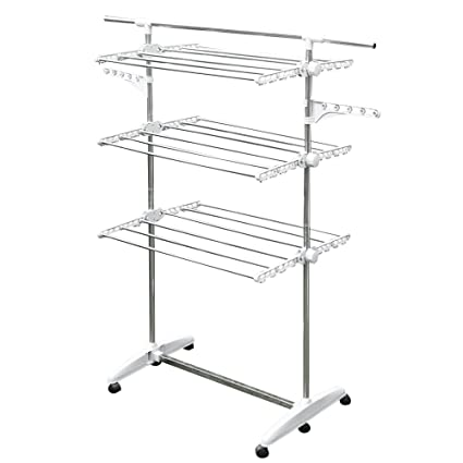 Amazon.com: Stainless Drying Clothes Rack   Portable Rolling