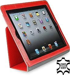 StilGut pochette executive, housse en cuir véritable pour l'iPad 2 d'Apple, Rouge