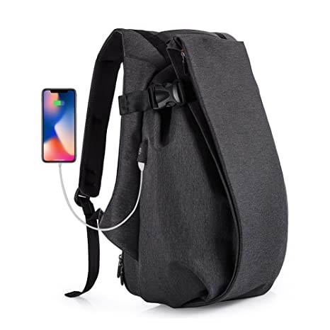 a2ecf61a502b Nuheby 17 inch Laptop Backpack Travel Durable Large Capacity with USB  Charging Port Waterproof College Commute