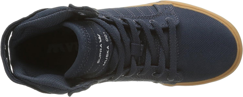 Supra Kids Boys Skytop Little Kid//Big Kid Navy Ballistic Nylon Sneaker 3.5 Big Kid M