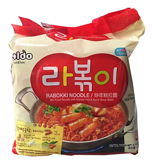 Amazon.com : Paldo Korean Ramen Family Pack (Rabokki) : Grocery & Gourmet Food