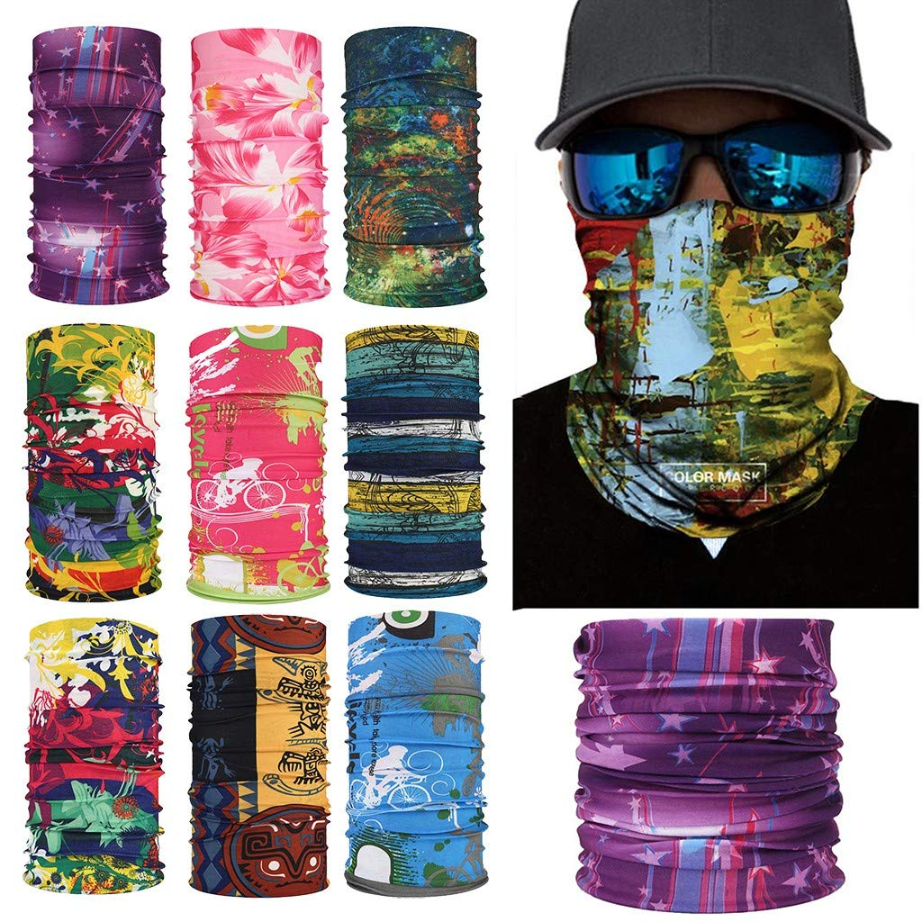 HighlifeS Cycling Motorcycle Head Scarf Neck Warmer Face Variety Magic Mask Ski Balaclava Headband (A)