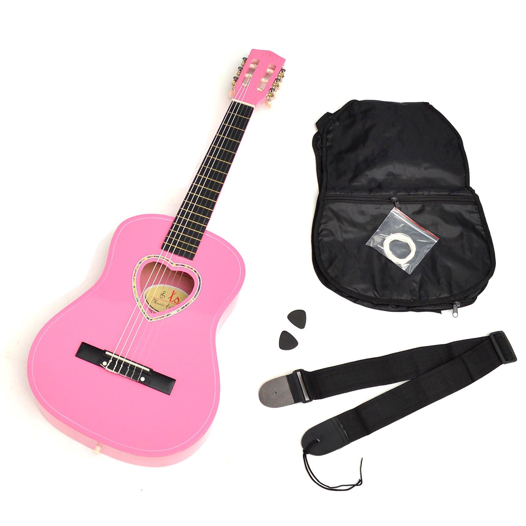 ts-ideen 5260 - Guitarra acústica infantil (tamaño 1/2, pastilla de