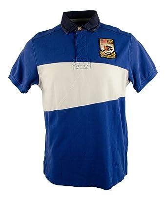 Polo Ralph Lauren Men\u0027s Nautical Mesh Rugby Shirt Shirt Tee, S, Deep Royal