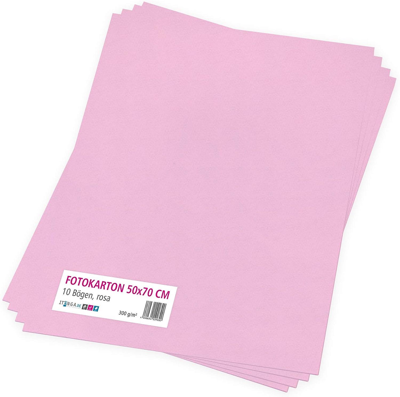 Tonpapier Tonkarton Druckerpapier Bastelpapier Bogen durchgef/ärbt zum kreativen Gestalten und Basteln itenga Fotokarton 10 Blatt 50 x 70 cm 300 g//qm Chamois
