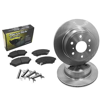 DK1129-1 Front Brake Rotors and Ceramic Pads and Hardware Set Kit: Automotive