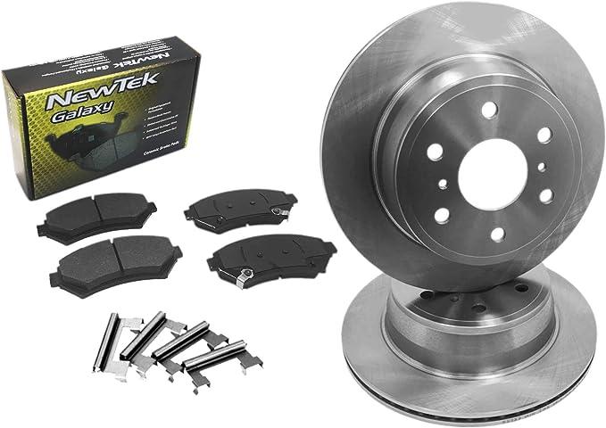 Black Hart *DRILLED /& SLOTTED* Brake Rotors Ceramic Pads C1026 FRONT+REAR KIT