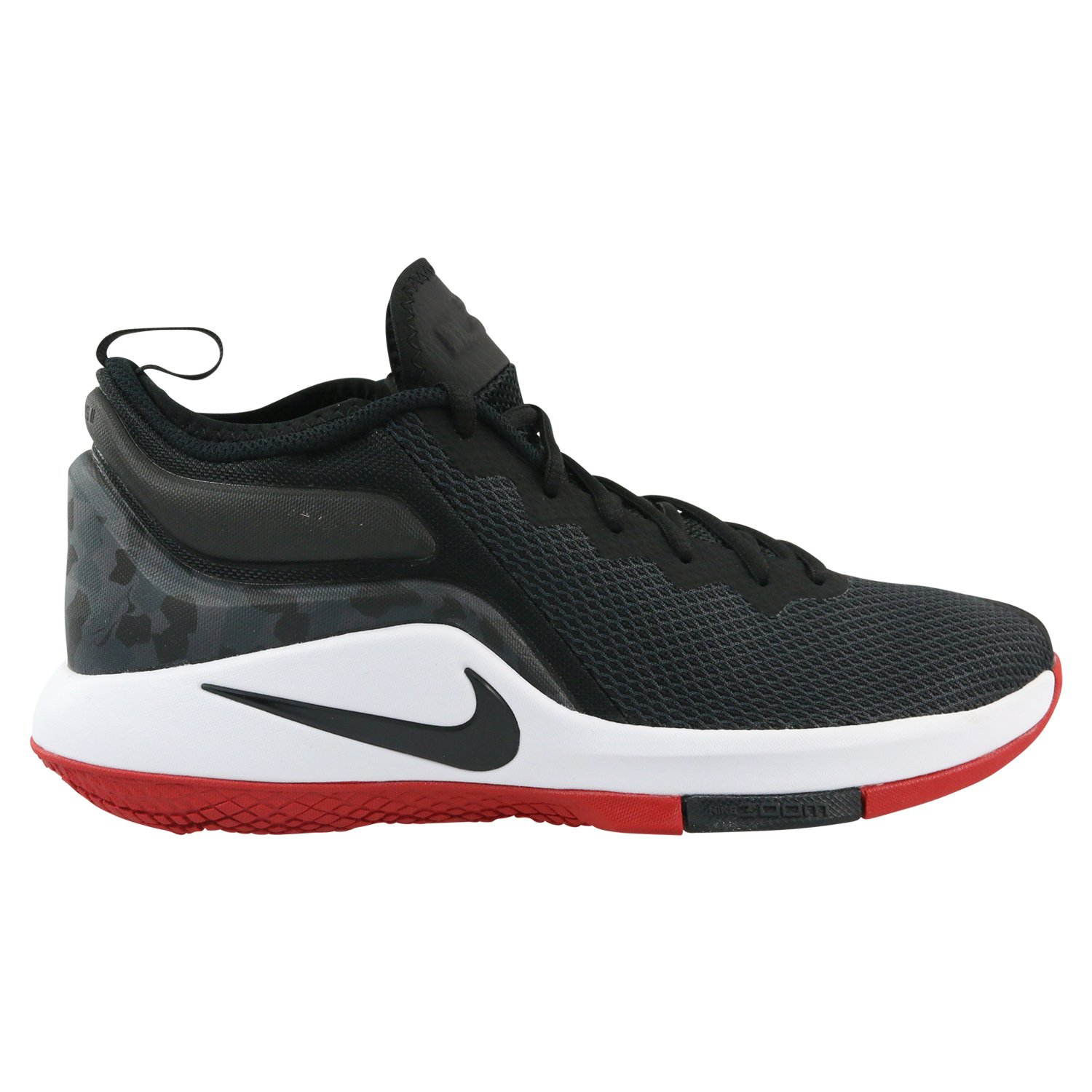 designer fashion a49cf fa880 Nike Men s Lebron Witness II Basketball Shoe Black White-Gym Red (11.5)   Buy Online at Low Prices in India - Amazon.in