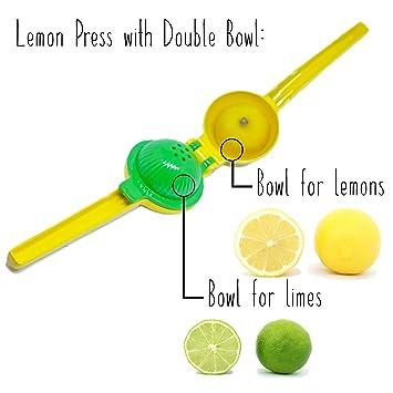 Compra Appetit Gourmet Exprimidor de Limones Exprimidor Manual de Cítricos 2 en 1 Irrompible de Aluminio Utensilio con Doble Cuenco Que Permite Exprimir ...
