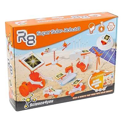 Science4you-R8 R8 Super Solar Robot, Juguete Educativo para Niños +8 Años, (878098): Juguetes y juegos