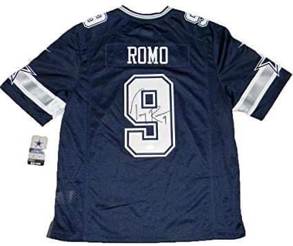 Wholesale Tony Romo Autographed Jersey #9 Nike Limited Navy JSA Certified  for cheap