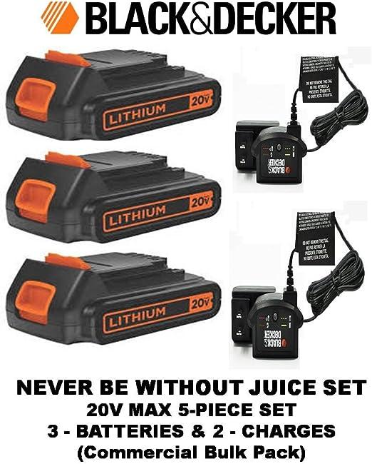 Amazon.com: black & decker LBXR20 20 V Max batería de iones ...