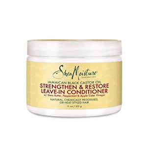 SheaMoisture Jamaican Black Castor Oil Strengthen & Restore Leave-In Conditioner, 11 Ounce