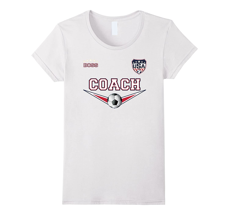 Novelty National Coach Soccer T Shirt-Tovacu