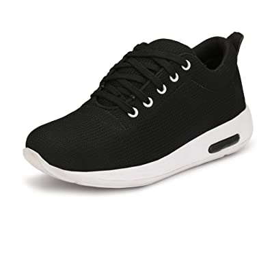 Staylo Men's Black Sneakers Casual Shoes: Buy Online at Low