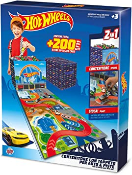 Grandi Giochi GG00681 Hot Wheels - Caja de Almacenamiento para Coche con Alfombra: Amazon.es: Juguetes y juegos