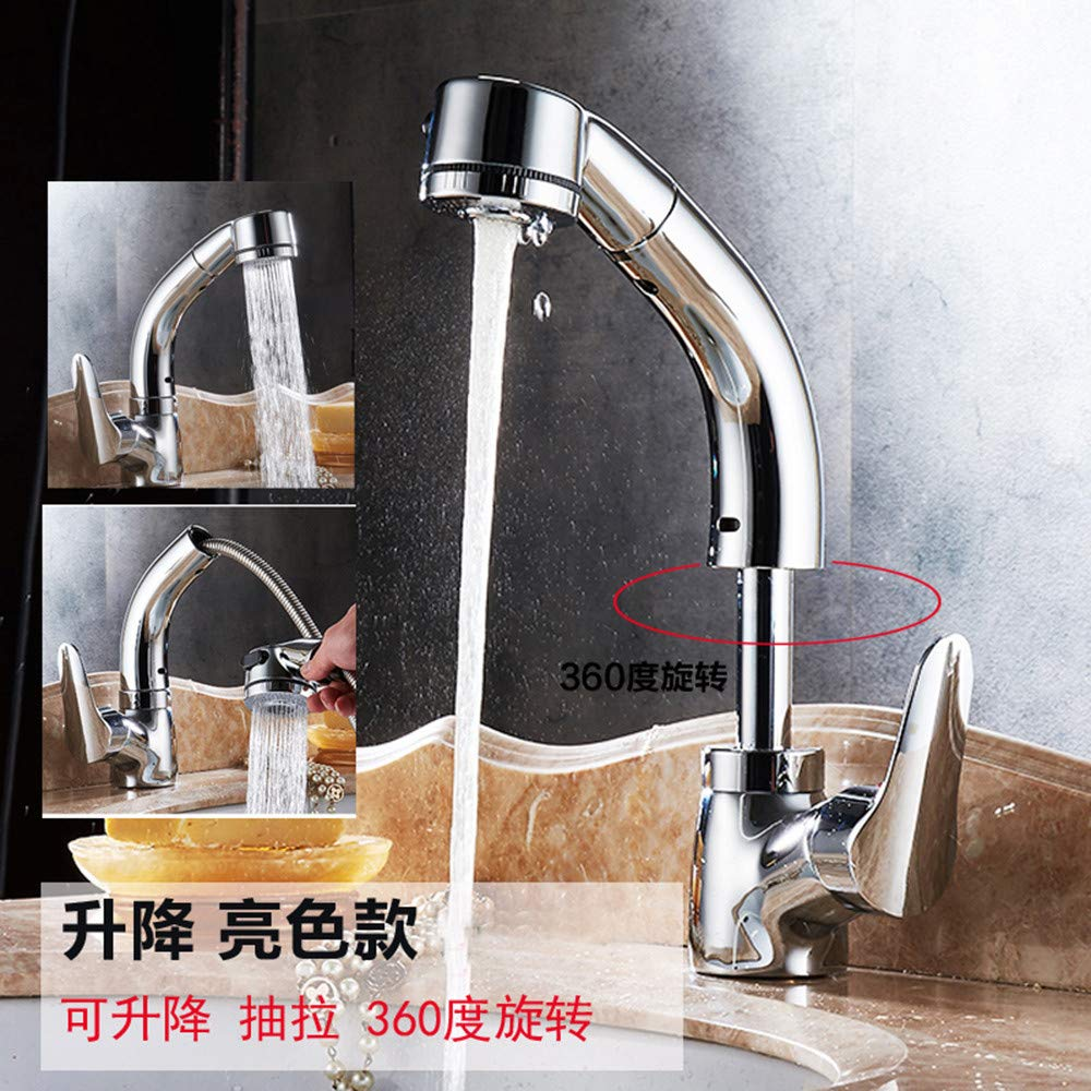 Zhouzhou666slt Single-Lever Basin Tap, Mixer Tap, Regular Spout, Water-Saving, Single Handle Chrome Leadless Brass Faucet Easy To Clean, Easy Inssizetion
