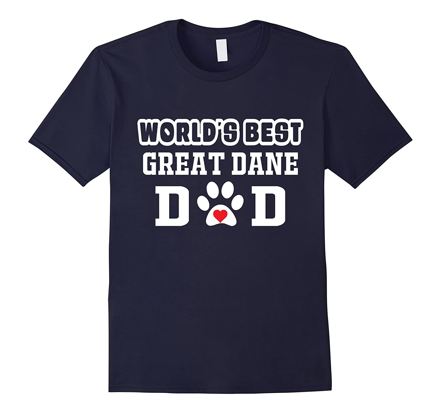 World's Best Great Dane Dad T-Shirt Dog Owner Lover Tee-Art