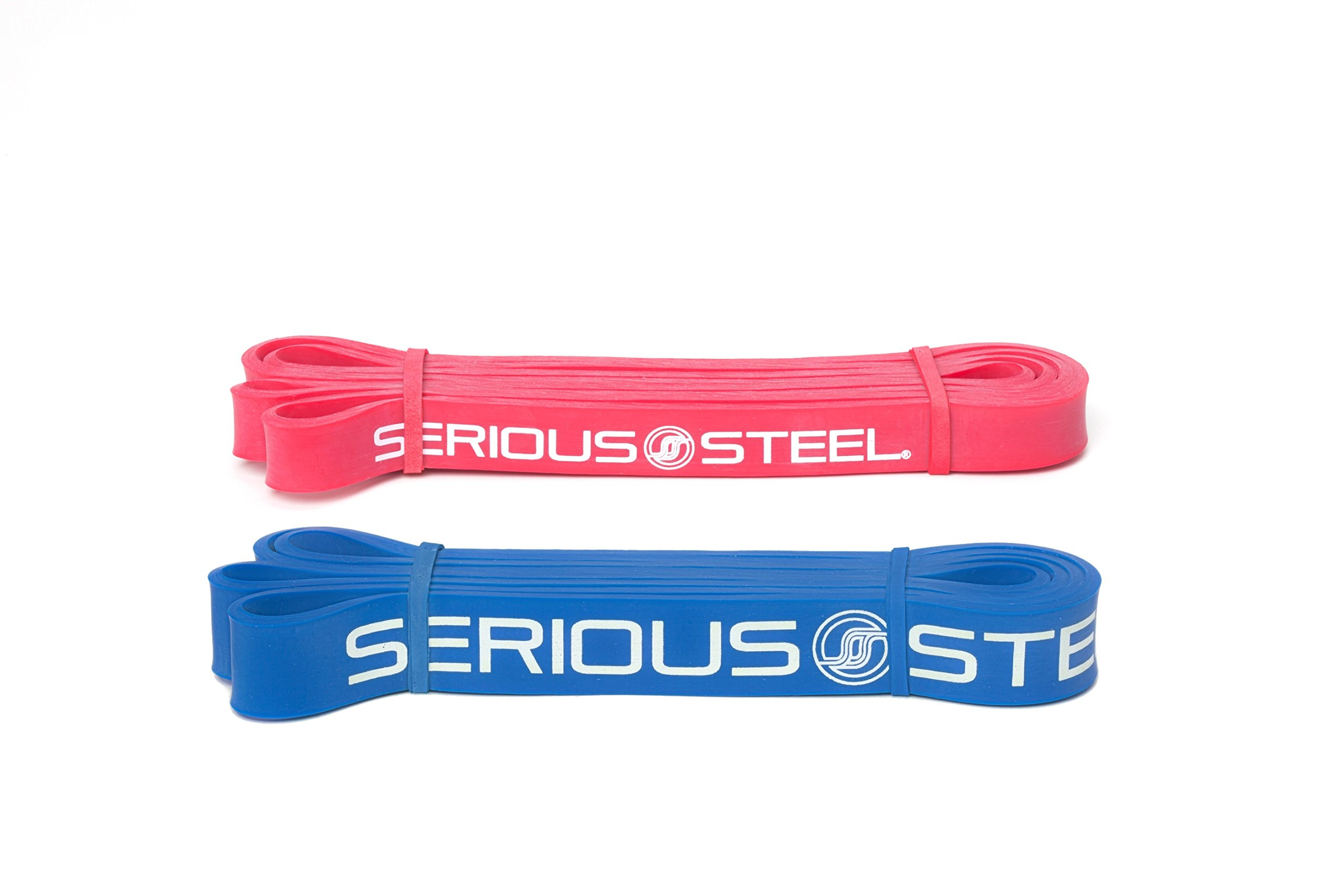 Serious Steel Fitness Beginner Assisted Pull-up &Crossfit Resistance Band Package#2, 3 Band Set (10-80 lbs) Free Pull-up and Band Starter e-Guide