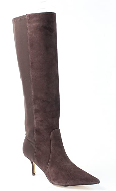 Amazon.com | Ivanka Trump Women's Issa Dark Brown Suede Boot 6.5 M | Boots