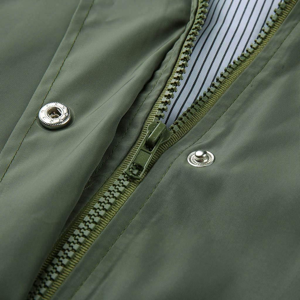 MRENVWS Damen Fr/ühling Herbst Mantel bequem Solide Regenjacke Outdoor Jacken mit Kapuze Regenmantel Winddicht Parka Coat