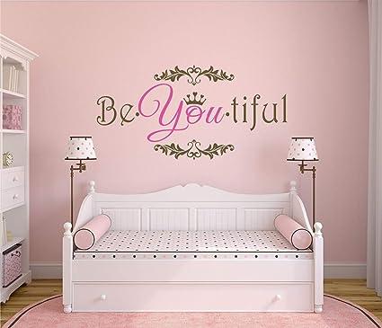 Amazon.com: Girls Wall Decor Girls Wall Art Be-You-Tiful ...