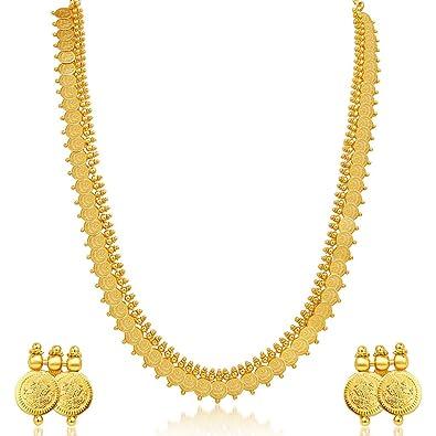 Amazoncom Sukkhi Womens Royal Gold Plated Temple Jewellery