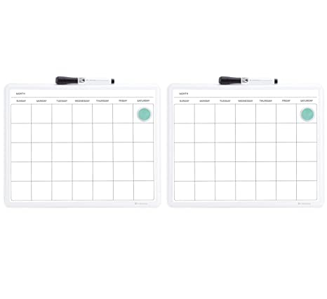 Amazon Com U Brands Contempo Magnetic Monthly Calendar Dry Erase