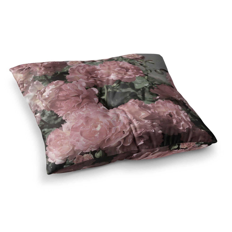 23 x 23 Square Floor Pillow Kess InHouse Susan Sanders Blush Pink Flowers Floral Photography