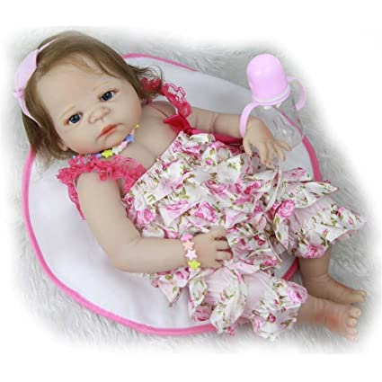 95633e403 Amazon.com  Soft Realistic 23   57cm Reborn Baby Doll Full Silicone ...
