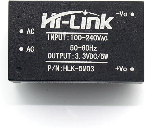 5pcs HLK-5M03 220V to 3.3V 5W AC-DC Isolation Switching Power Supply Module