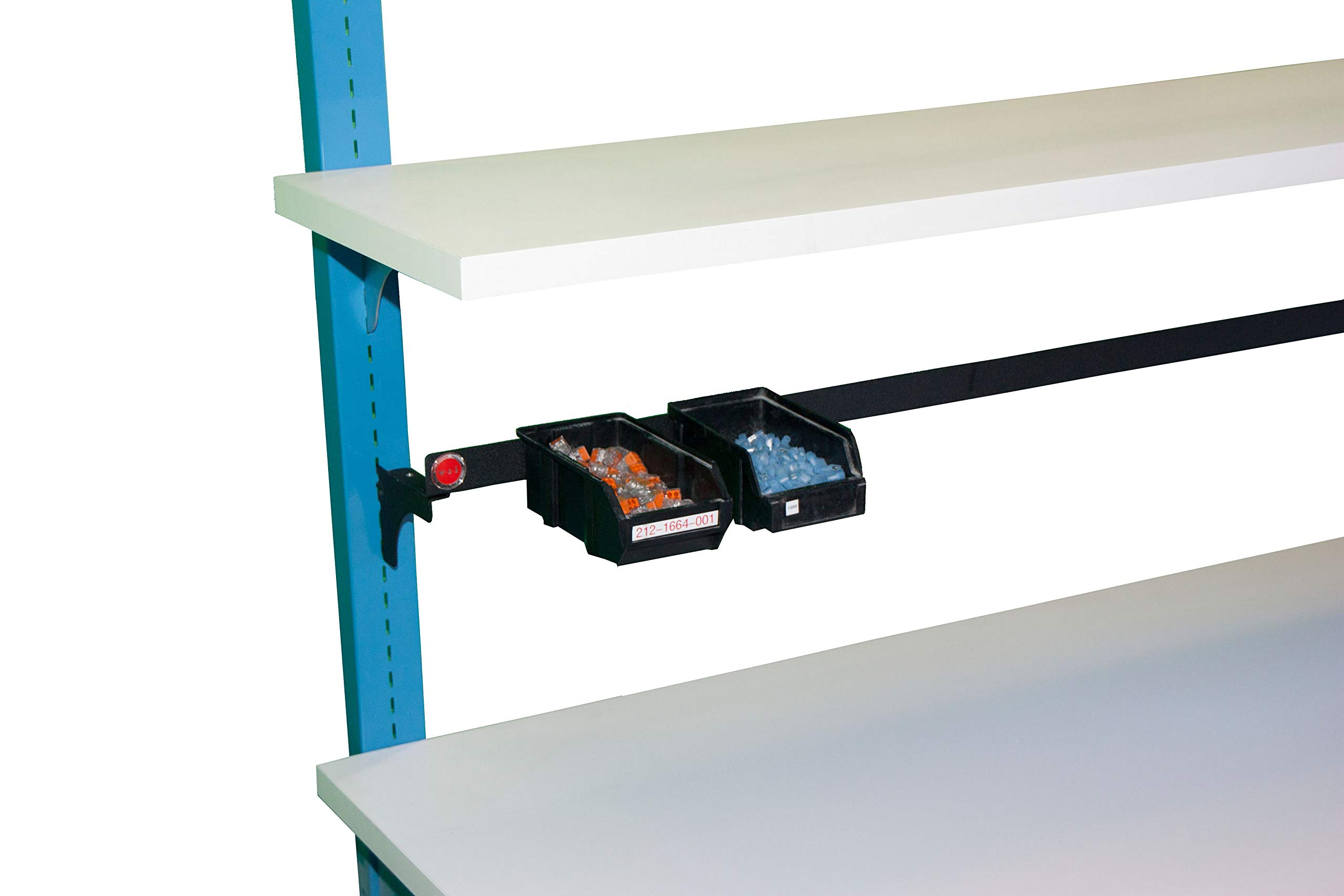 WSI Riser Mounted Parts Cup Rail for 48'' Bench