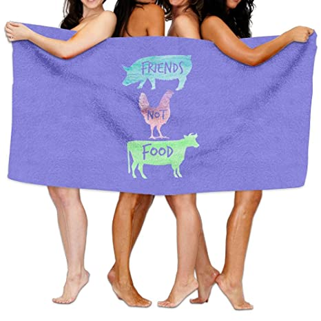 Amigos no comida toallas de playa de tamaño Extra grande toalla de baño