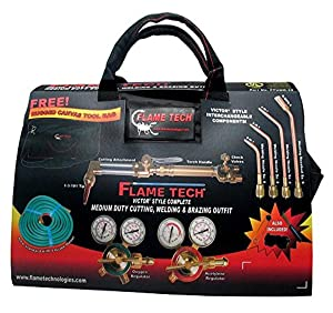 Flame Technologies FTVMD-22 Complete Medium Duty Cutting, Welding and Heating Outfit, Compatible with Victor Products