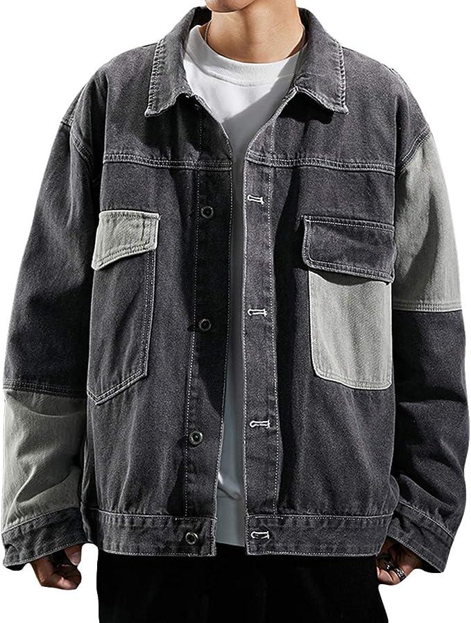 FOMANSH デニムジャケット メンズ gジャン オーバーサイズ 長袖 ゆったり カジュアル S-3XL ジージャン