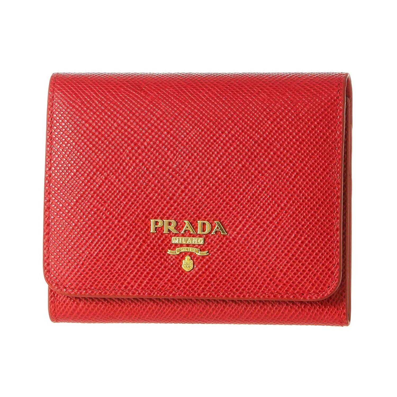 プラダ(PRADA) 3つ折り財布 1MH176 2BB8 F068Z サフィアーノ キュイール レッド 赤 [並行輸入品] B0741P7XB3