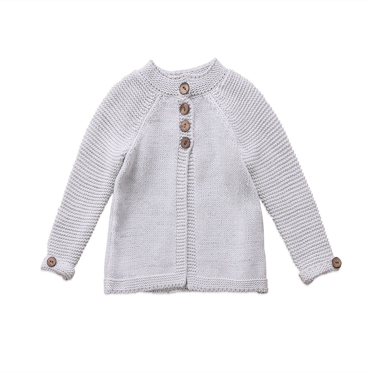 KIDSA 1-8T Toddler Baby Little Big Girls Kids Long Sleeve Knit Cardigan Sweaters Fall Winter Clothing Warm Thick Jacket Coat
