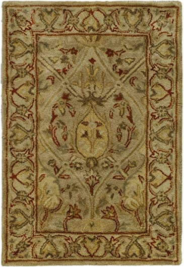 Safavieh Persian Legend Collection PL819G Handmade Traditional Moss and Beige Wool Area Rug 2' x 3'