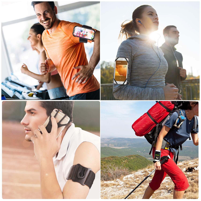 MIJOBS Brazalete Deportivo Brazalete para el Antebrazo Transpirable con 360/° Rotaci/ón y Bolsillito de Llaves para iPhone X//XR//7//8 Plus//6s,Samsung Galaxy S8//S9 Plus de 4-6.5 2 IN 1