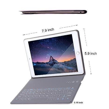 iPad Mini 4 Teclado Funda Bluetooth, teclado caso con anti-scratch Protector de material