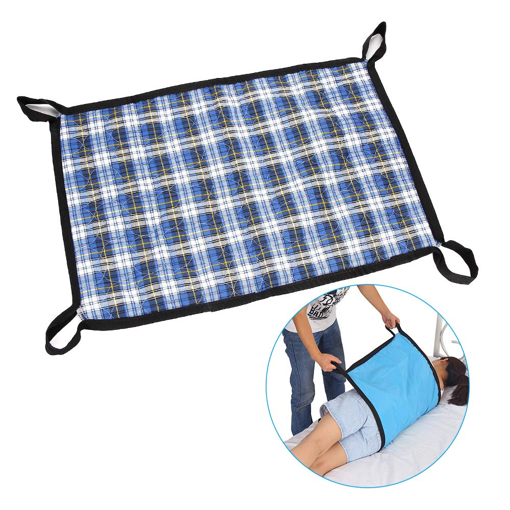 Transfer Board Slide Belts Protective Underpads Adult Incontinence Bed Pads Draw Sheet Medical Lift Sling Transferring Lifting Blets Patient Positioning Pad - 4 Handle Assist Caregiver (Plaid Cloth) by NEPPT