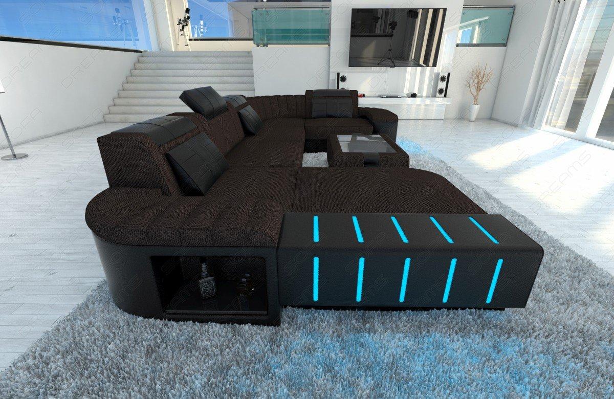 Admirable Big Fabric Sectional Sofa Bellagio U With Led Amazon Ca Beutiful Home Inspiration Aditmahrainfo