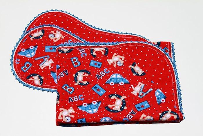 Amazoncom Abc Bears Finished Crochet Edge Flannel Blanket W2