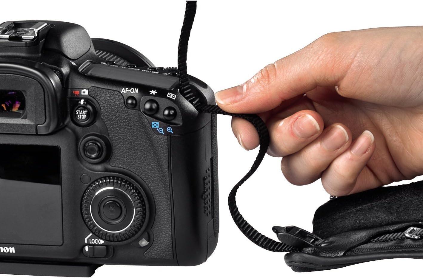pour appareil photo, en n/éopr/ène, longueur r/églable , ergonomique, avec dragonne int/égr/ée Hama Sangle d/'appareil photo Loop 130 Noir 70-130 cm