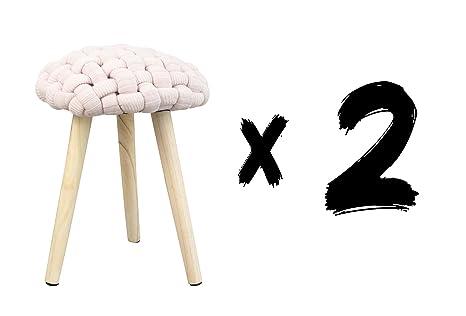Fores diseño s l crochet f set sgabelli h cm rosa