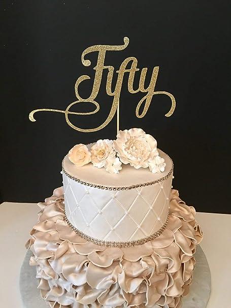 Monsety Decoración para Tarta de Boda, 50 cumpleaños con ...