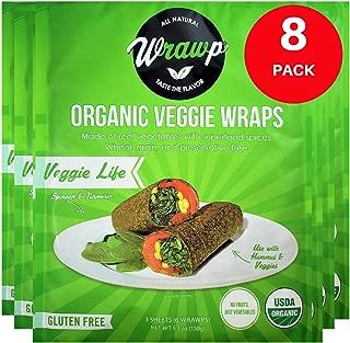 product image for Raw Organic Veggie Life Veggie Wraps | Wheat-Free, Gluten Free, Paleo Wraps, Non-GMO, Vegan Friendly Made in the USA (8 Pack)