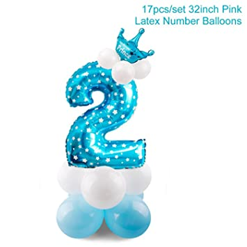 Amazon Greuses Blue Boy 2nd Birthday Decoration Pink Girl 2