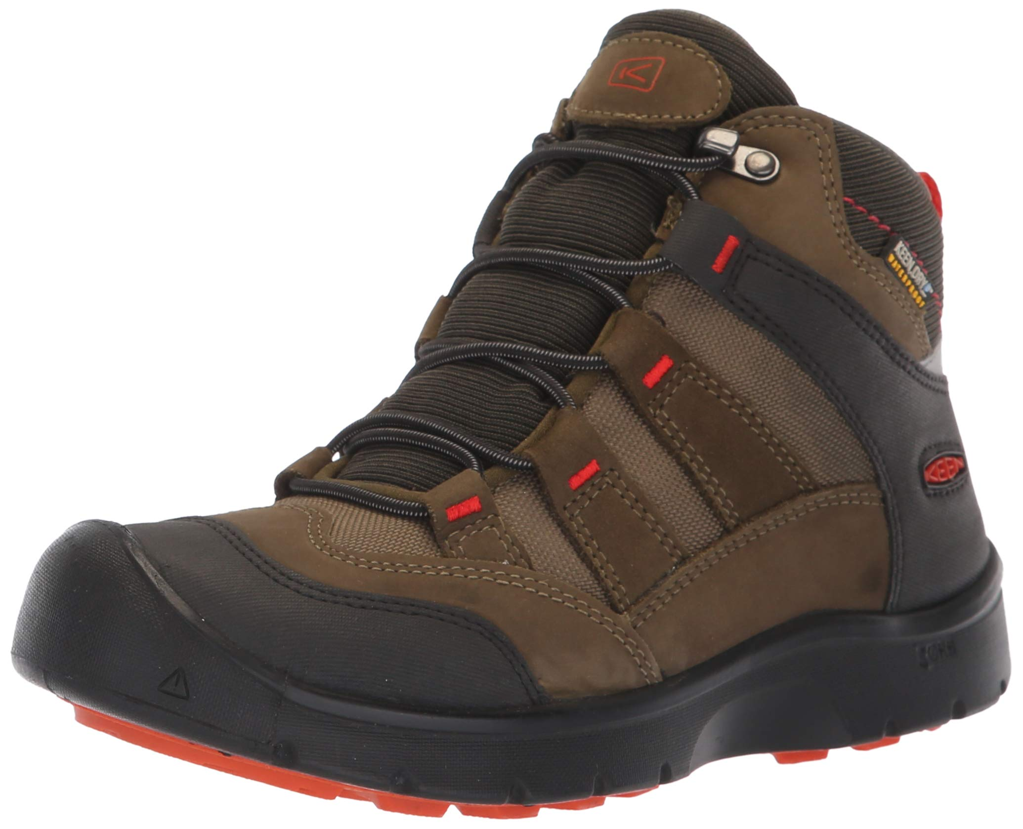 KEEN Unisex HIKEPORT MID WP Hiking Boot, Martini Olive/pureed Pumpkin, 12 M US Little Kid by KEEN (Image #1)